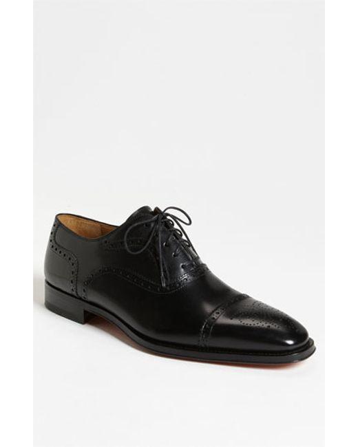Saks Fifth Avenue | Black 'santiago' Cap Toe Oxford for Men | Lyst