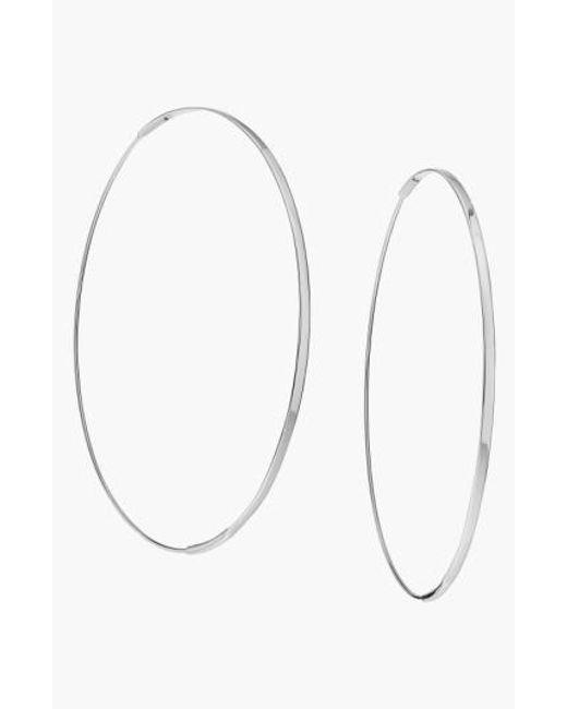 Lana Jewelry | White 'large Flat Magic' Hoop Earrings | Lyst