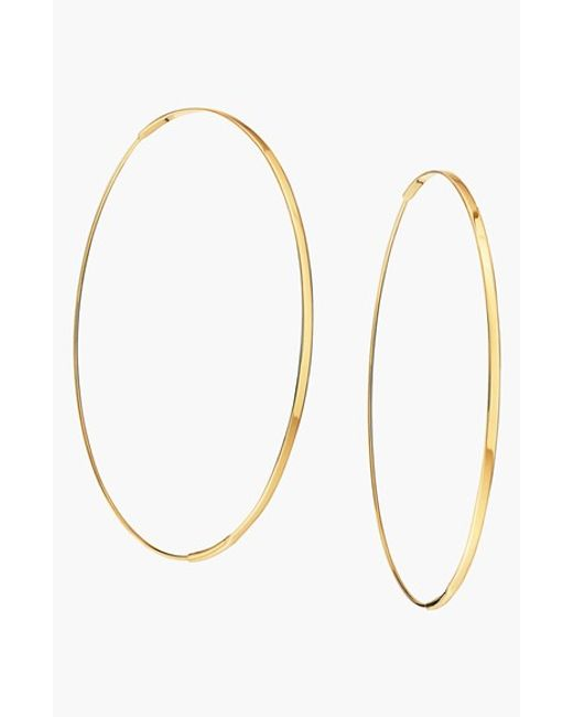 Lana Jewelry | Yellow 'large Flat Magic' Hoop Earrings | Lyst