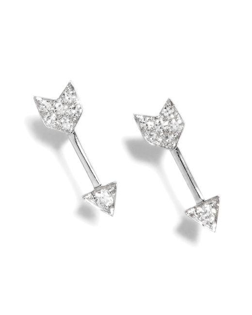EF Collection - Metallic Diamond Arrow Stud Earrings - Lyst