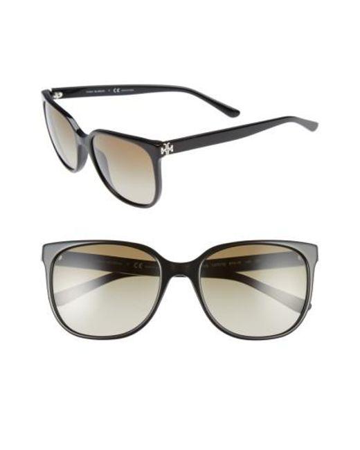 Tory Burch - Black 57mm Gradient Sunglasses - Lyst