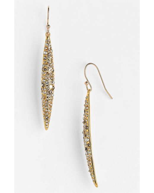 Alexis Bittar | Metallic 'miss Havisham' Crystal Encrusted Spear Earrings | Lyst