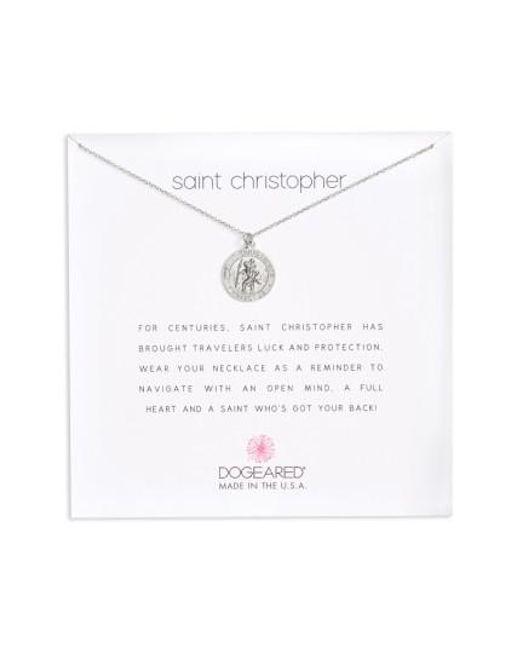 Dogeared   Metallic St. Christopher Pendant Necklace   Lyst