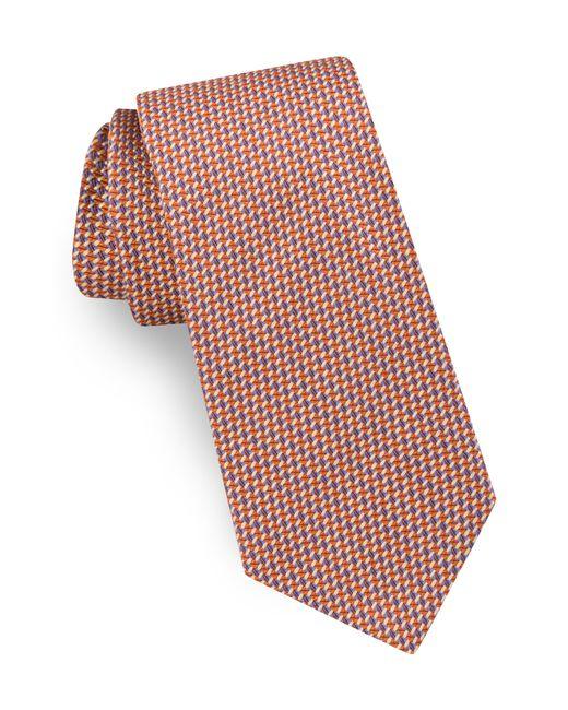 Ted Baker - Orange Geometric Silk Tie for Men - Lyst