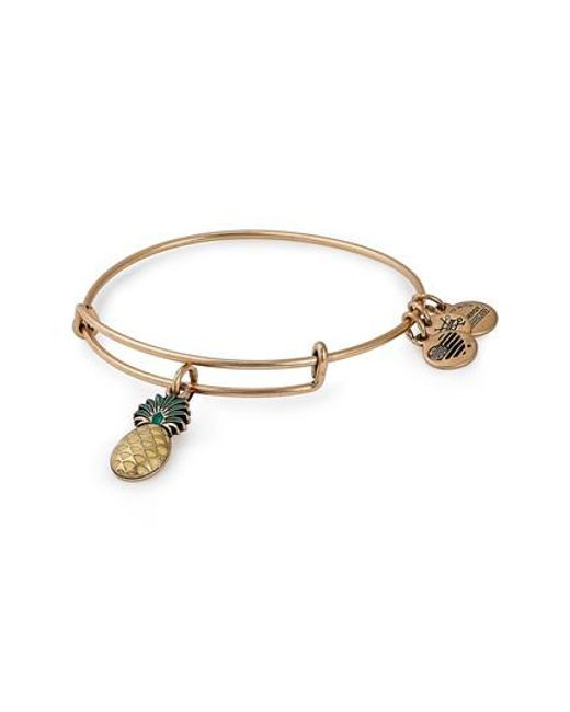 Alex And Ani Metallic Pinele Color Infusion Expandable Charm Bracelet Lyst