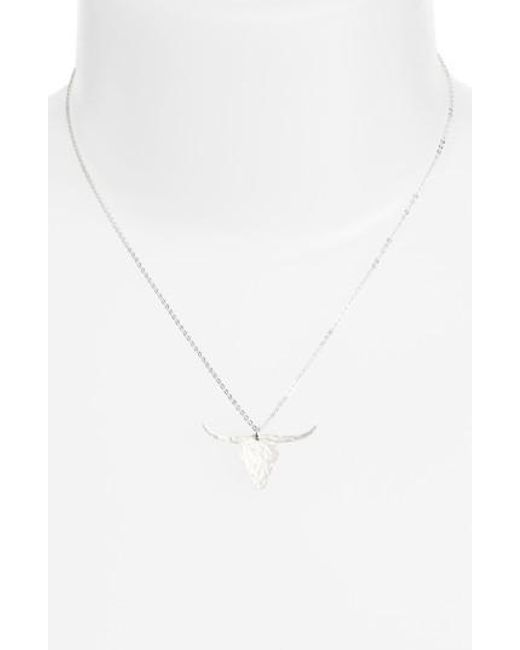 Nashelle | Metallic Longhorn Pendant Necklace | Lyst