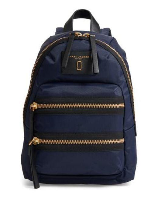 Marc Jacobs - Blue Mini Biker Nylon Backpack - - Lyst