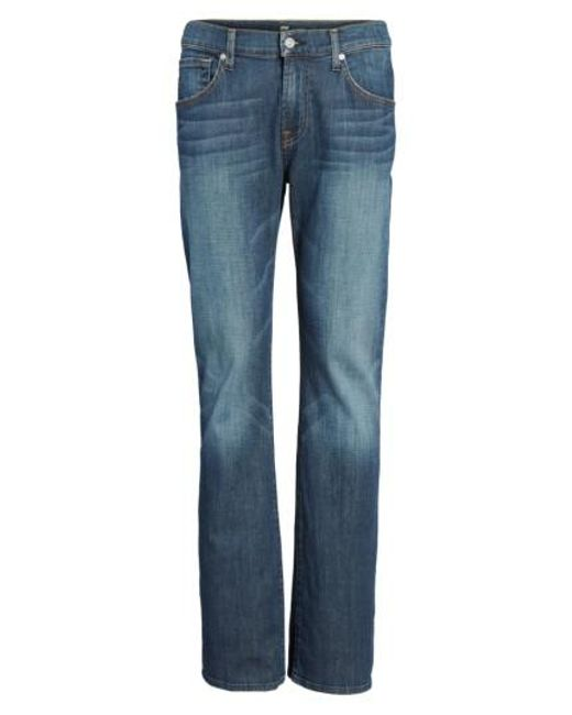 7 For All Mankind | Blue 7 For All Mankind Brett Bootcut Jeans for Men | Lyst