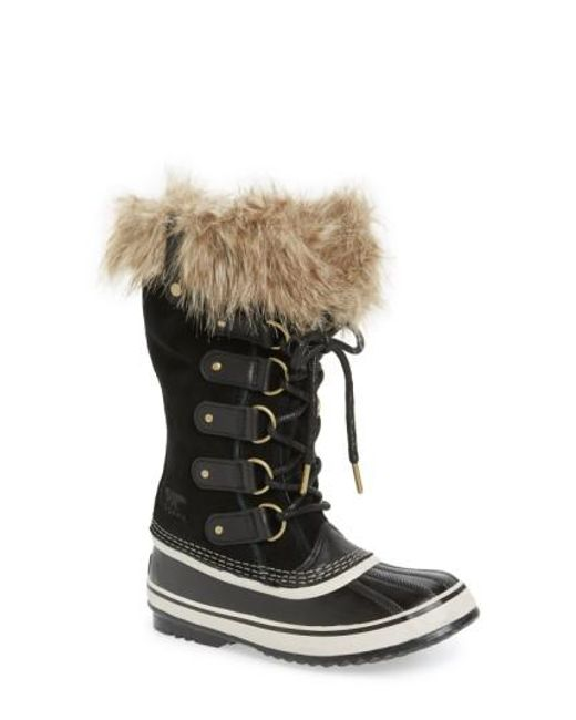 Sorel - Black 'joan Of Arctic' Waterproof Snow Boot - Lyst