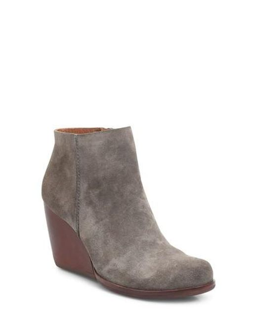 Kork-Ease | Brown Kork-ease Natalya Wedge Bootie | Lyst