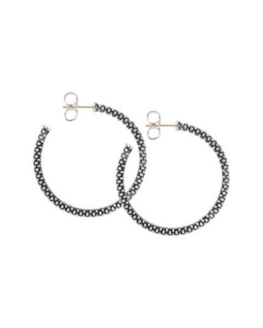 Lagos | Metallic Medium Caviar Hoop Earrings | Lyst