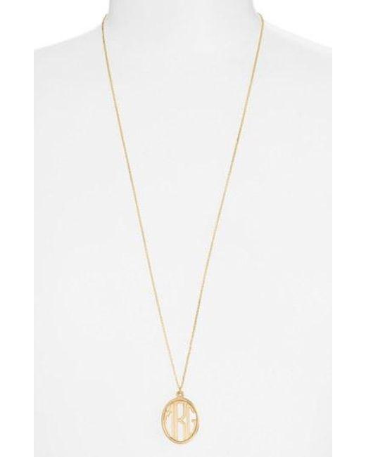 Argento Vivo - Metallic Personalized Monogram Pendant Necklace - Lyst