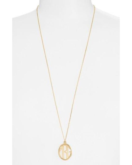 Argento Vivo | Metallic Personalized Monogram Pendant Necklace | Lyst