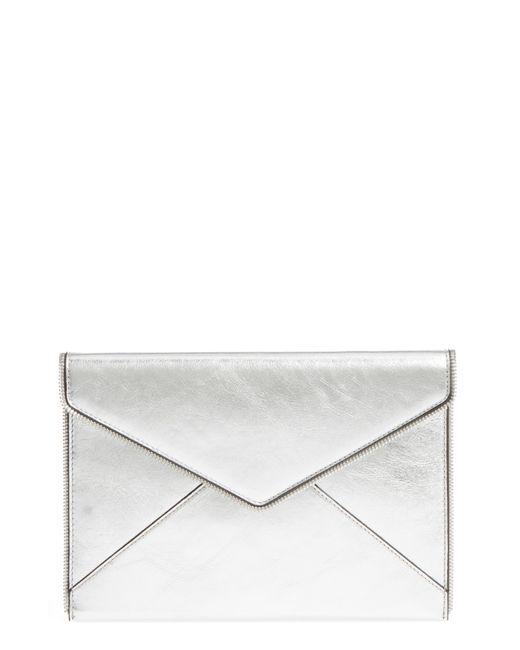 Rebecca Minkoff - Leo Mirror Metallic Envelope Clutch - - Lyst
