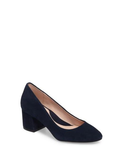 Taryn Rose | Blue Rochelle Block Heel Pump | Lyst