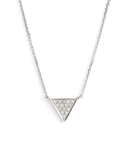 Dana Rebecca - Metallic 'emily Sarah' Diamond Triangle Pendant Necklace - Lyst