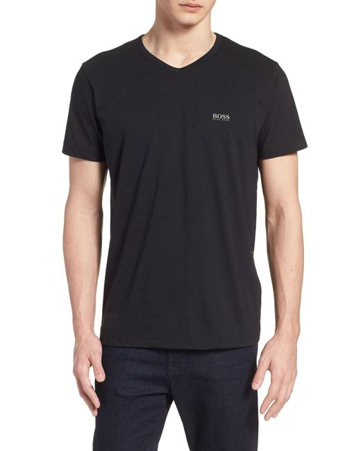 BOSS - Black Teevn Regular Fit V-neck T-shirt for Men - Lyst