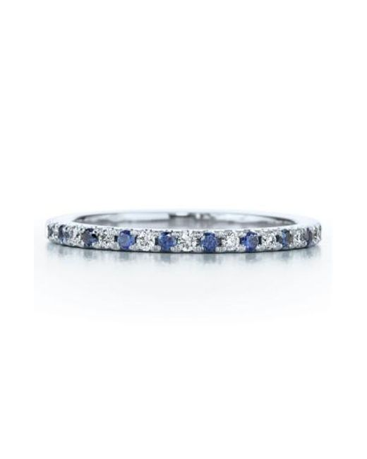 Kwiat | White Diamond & Sapphire Stackable Ring | Lyst