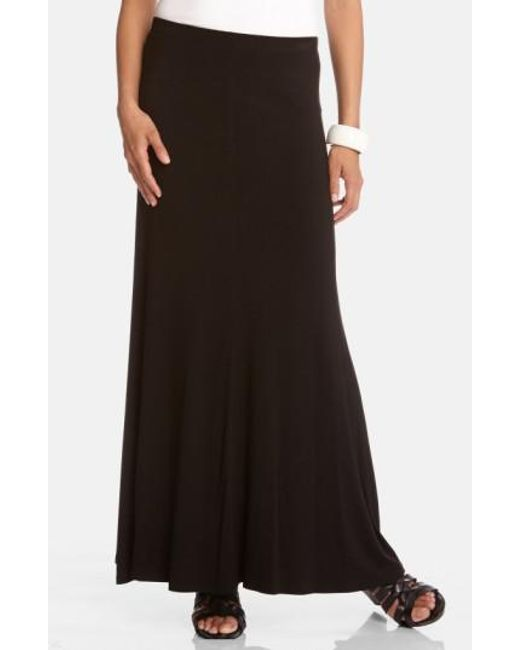 Karen Kane | Black Flared Maxi Skirt | Lyst