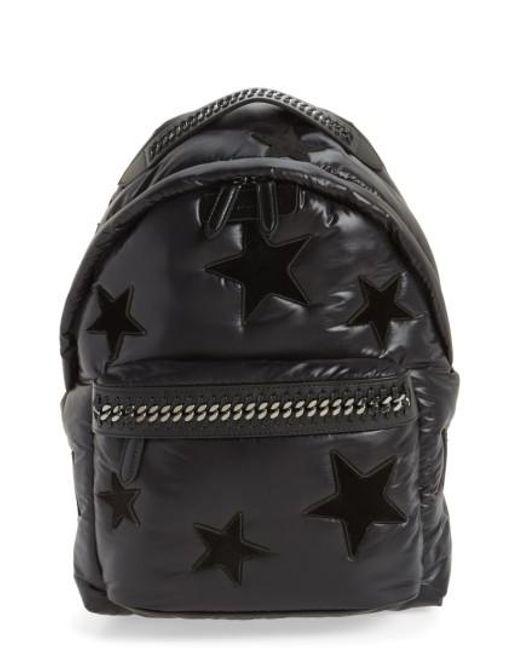 Stella McCartney | Black Falabella Go All Over Stars Backpack | Lyst