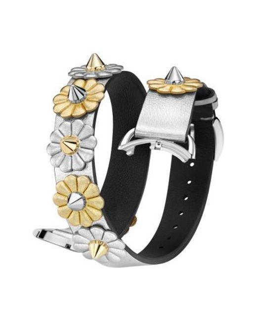 Fendi | Metallic Selleria 17mm Embellished Leather Watch Strap | Lyst