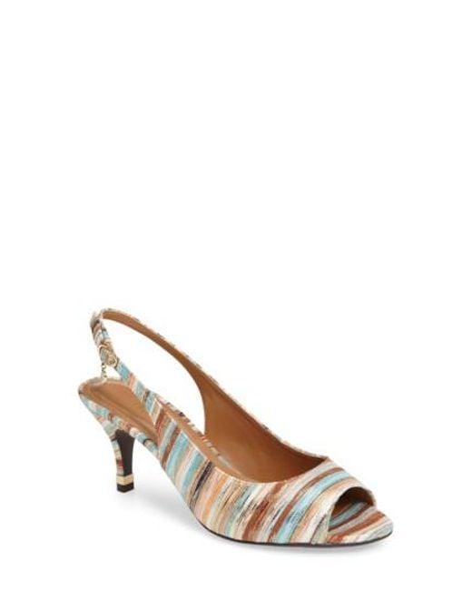 J. Reneé - Multicolor 'gardenroad' Slingback Peep Toe Pump - Lyst