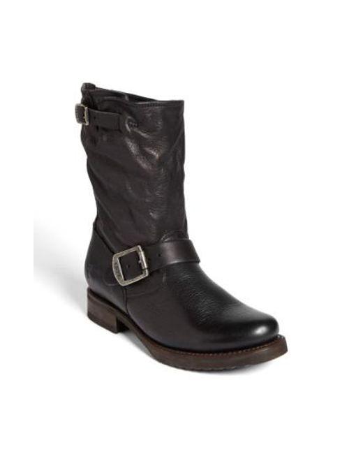 Frye | Black 'veronica Shortie' Slouchy Boot | Lyst