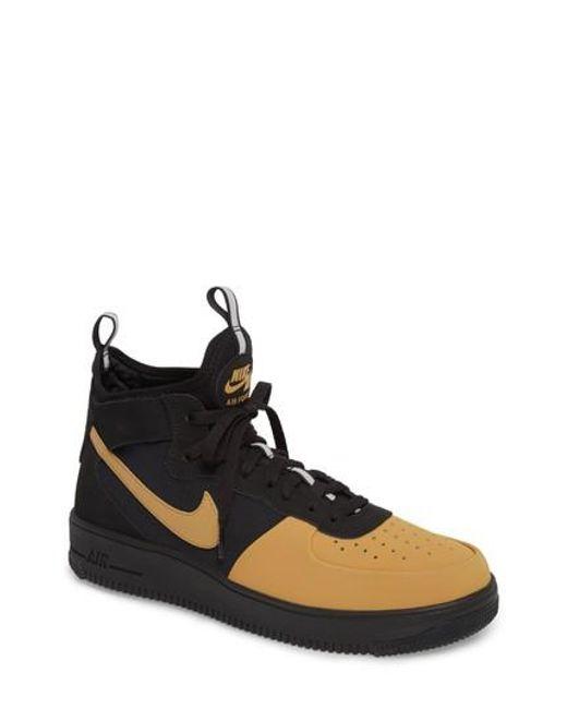 Lyst - Nike Air Force 1 Ultraforce Mid Tech Sneaker in Brown for Men e11056465