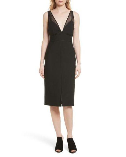 Cinq À Sept | Black Lida Sheath Dress | Lyst