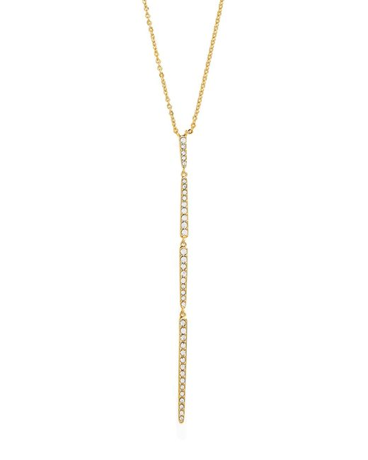 Nordstrom - Metallic Pave Modern Linear Y-necklace - Lyst