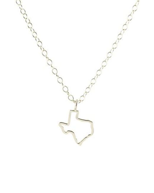 Kris Nations - Metallic Texas Outline Charm Necklace - Lyst