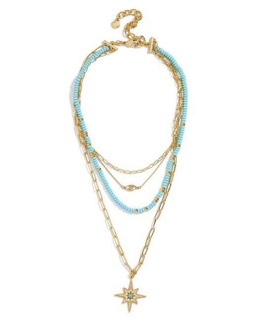 BaubleBar - Metallic Galexia Layered Necklace - Lyst