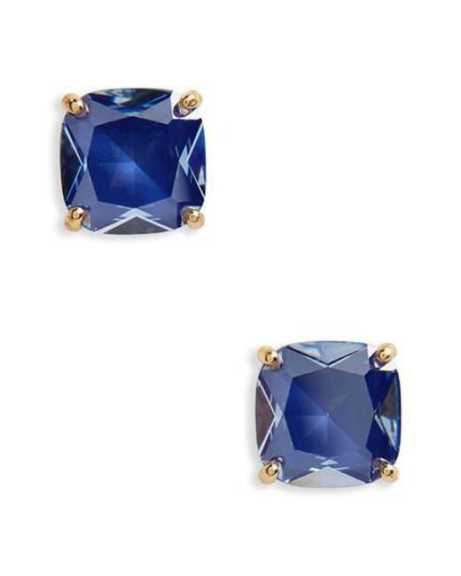 Kate Spade - Blue Small Square Enamel Stud Earrings - Lyst