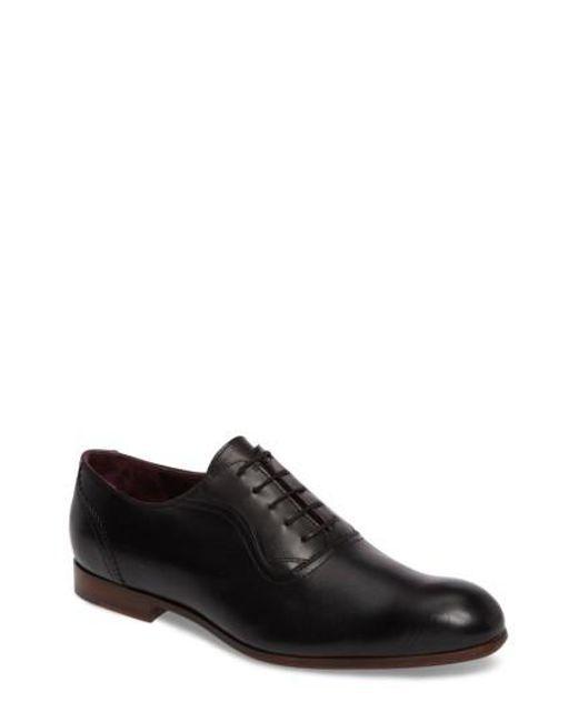 Ted Baker | Black Haigh Plain Toe Oxford for Men | Lyst