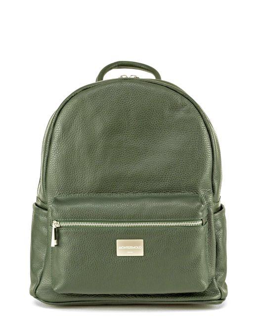 Montezemolo - Green Leather Backpack for Men - Lyst