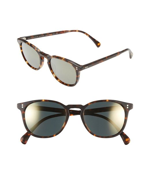 Oliver Peoples - Brown 'finley' 51mm Polarized Sunglasses - Lyst