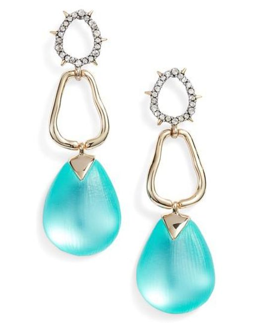 Alexis Bittar - Blue Lucite Drop Earrings - Lyst