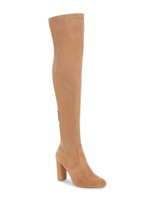 Steve Madden | Natural 'emotions' Stretch Over The Knee Boot | Lyst