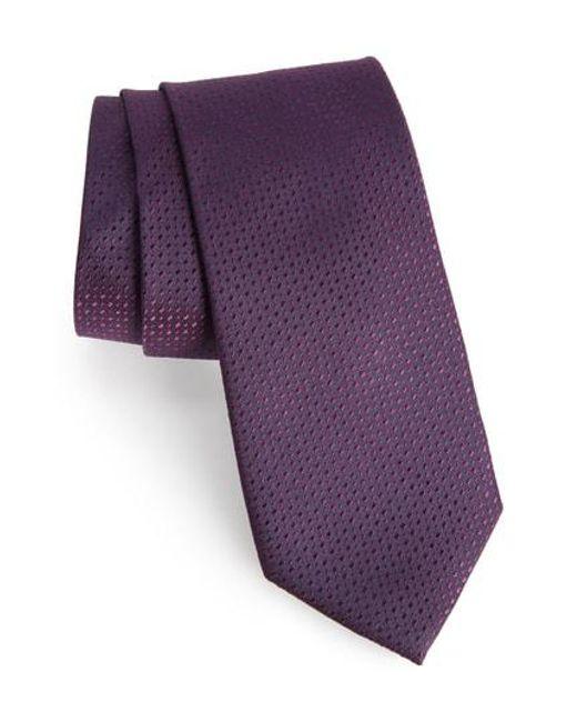 Calibrate - Purple Ballard Solid Silk Tie for Men - Lyst