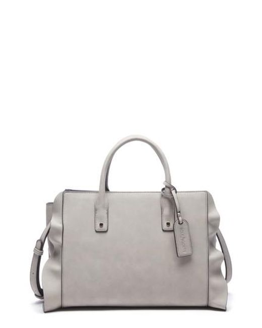 Sole Society - Gray Faux Leather Satchel - - Lyst