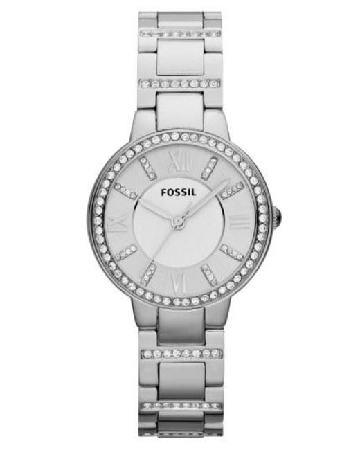 Fossil - Metallic 'virginia' Crystal Accent Bracelet Watch - Lyst
