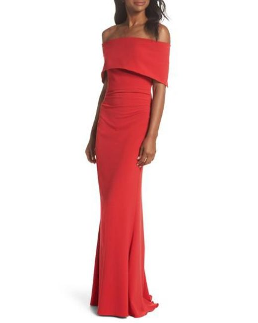 Lyst - Vince Camuto Popover Gown in Red