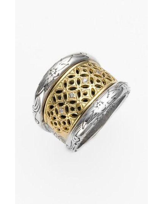 Konstantino   Metallic 'diamond Classics' Diamond Filigree Ring   Lyst