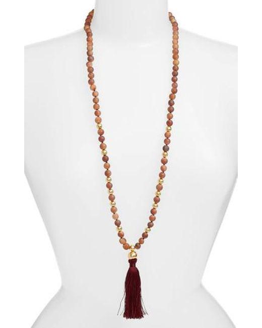 Gorjana - Metallic Hannah Drusy Tassel Necklace - Lyst