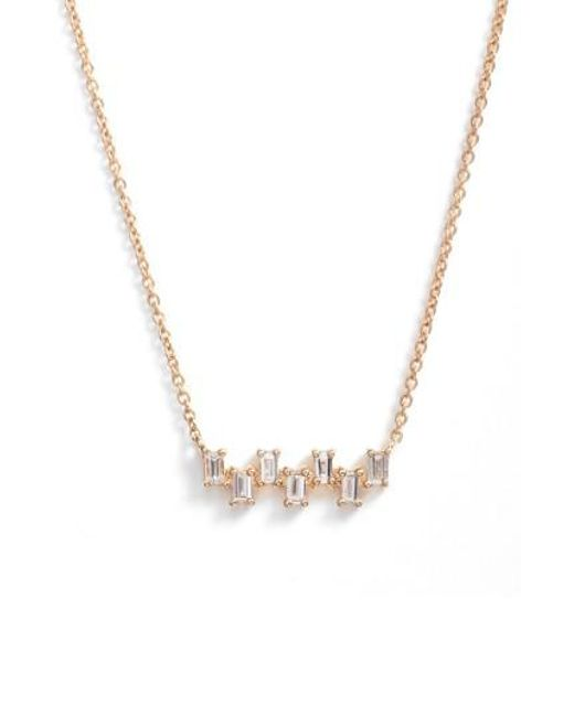 Dana Rebecca - Metallic Sadie Diamond Bar Pendant Necklace - Lyst