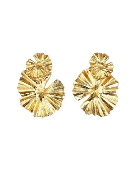 Oscar de la Renta | Metallic Wildflower Clip Earrings | Lyst
