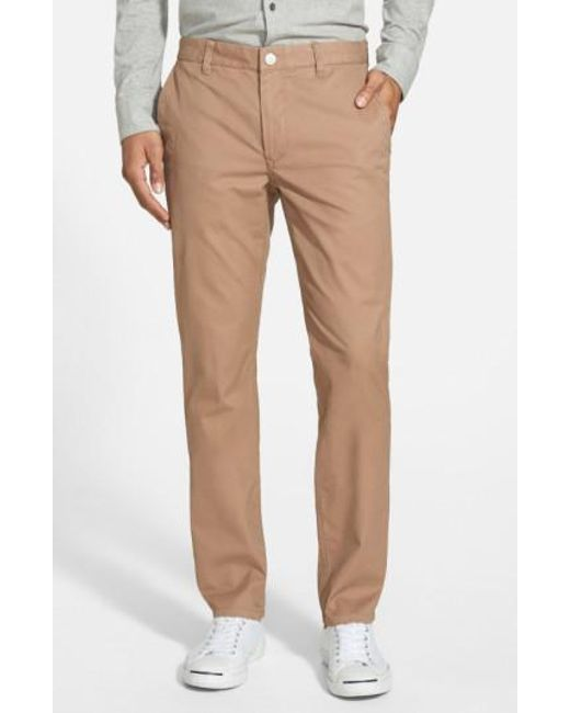 Bonobos   Brown Tailored Fit Washed Chinos for Men   Lyst