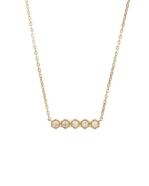 Nadri - Metallic Hexagon Bar Necklace - Lyst