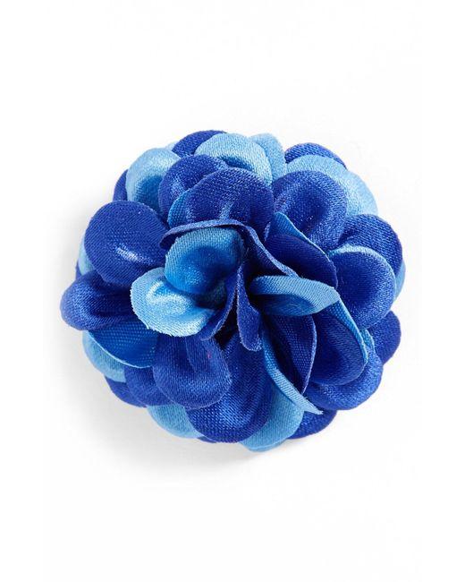 Hook + Albert - Blue Lapel Flower for Men - Lyst