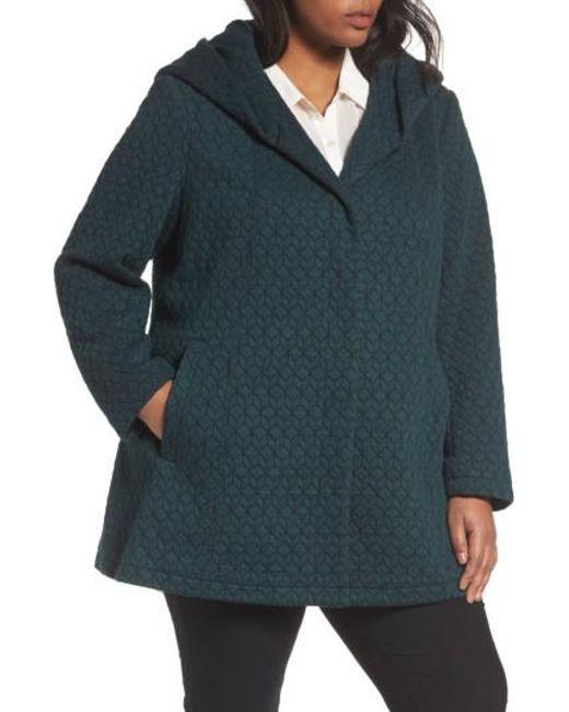 Gallery   Blue Cozy Knit Coat   Lyst